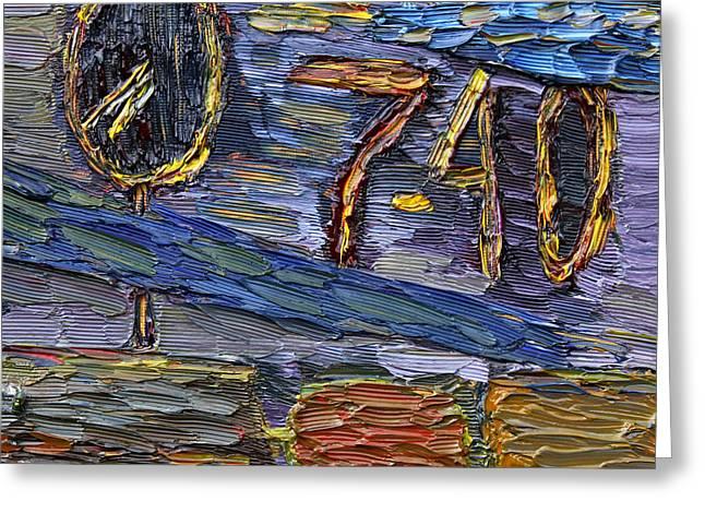 Greeting Card featuring the painting Seven Forty by Vadim Levin