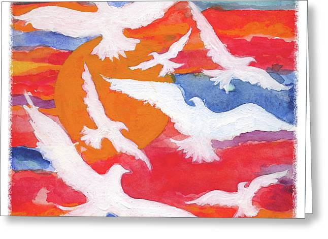 Seven Gifts Of The Holy Spirit Greeting Card by Lynne Beard