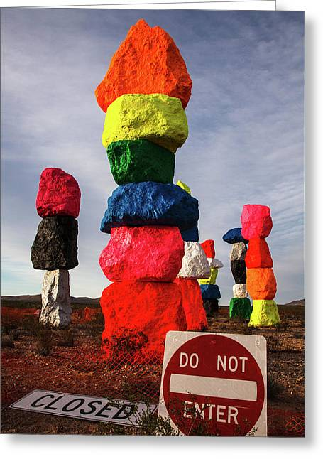 Seven Magic Mountains Greeting Card by James Marvin Phelps