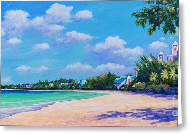 Seven Mile Beach And Ritz Carlton Greeting Card by John Clark