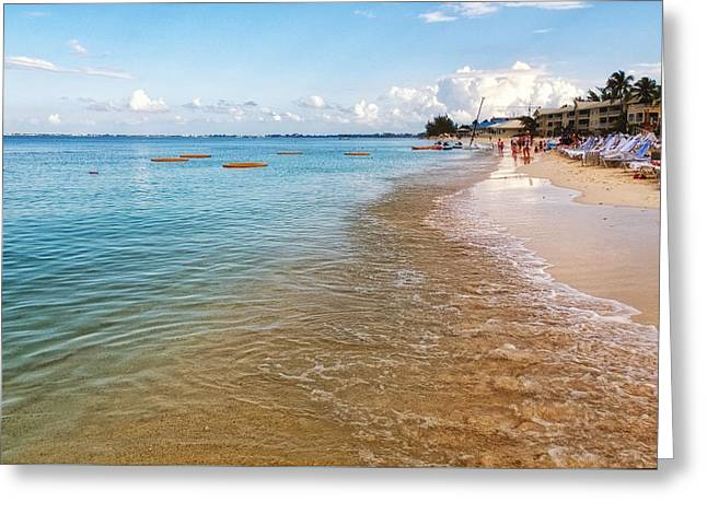 Greeting Card featuring the photograph Seven Mile Beach by Lars Lentz