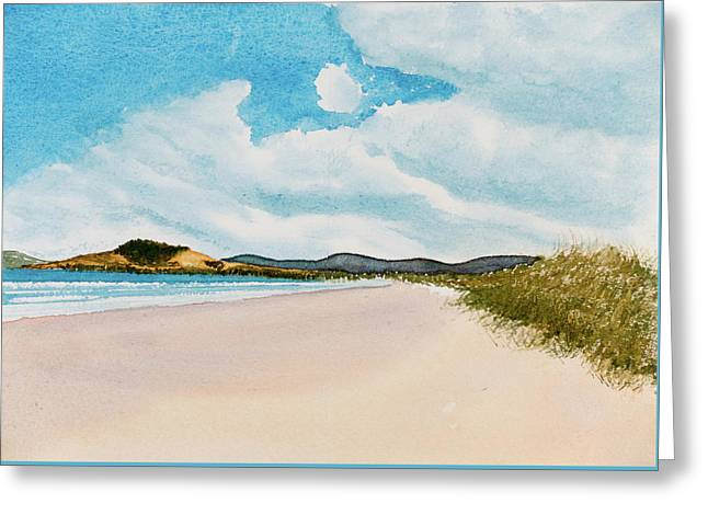 Seven Mile Beach On A Calm, Sunny Day Greeting Card