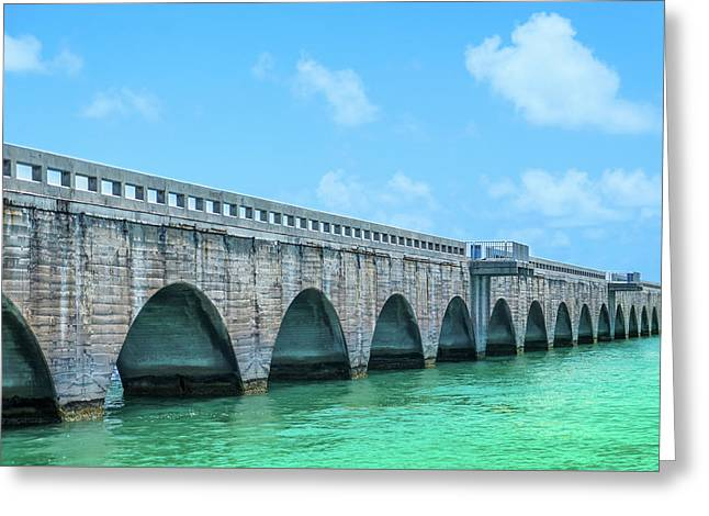 Seven Mile Bridge, Key West Greeting Card