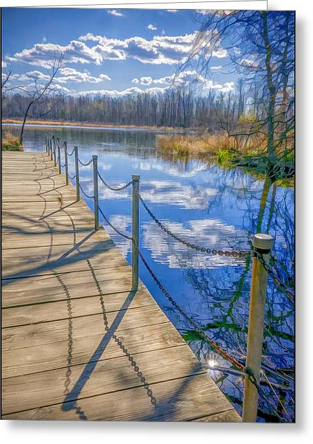 Seven Ponds Nature Center Tree Top Pond  Greeting Card