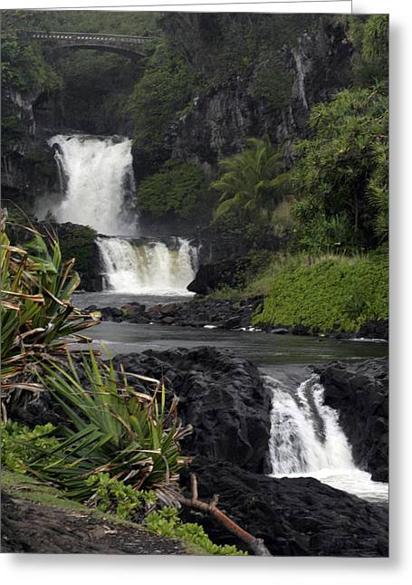 Seven Sacred Pools Greeting Card