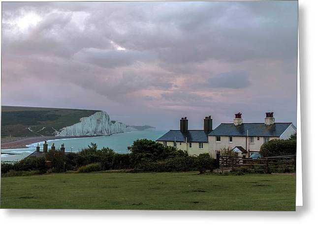 Seven Sisters Dawn  - England Greeting Card