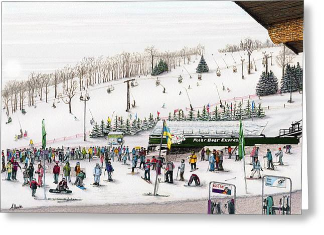 Seven Springs Stowe Slope Greeting Card by Albert Puskaric