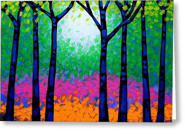 Seven Trees Greeting Card