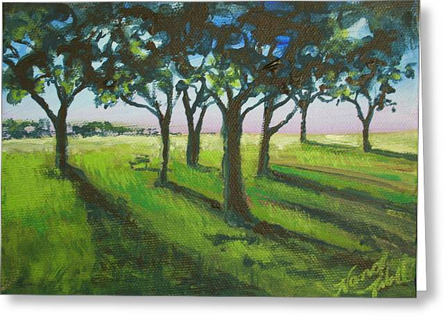 Seven Trees Greeting Card by Michele Hollister - for Nancy Asbell