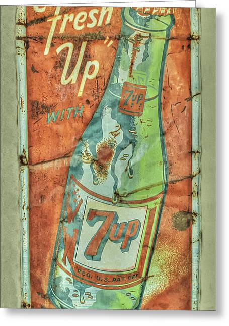 Seven Up Fresh Up Greeting Card by Douglas Settle