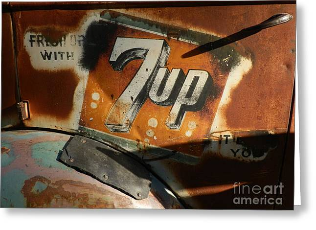 Seven Up Greeting Card