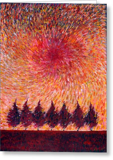 Seven Wishes Greeting Card by Wojtek Kowalski