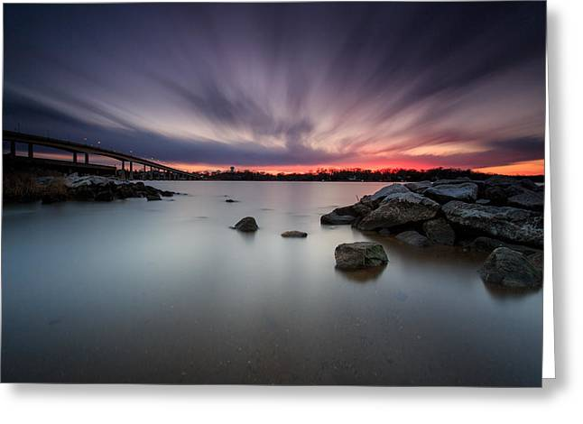 Greeting Card featuring the photograph Severn River Dusk by Jennifer Casey