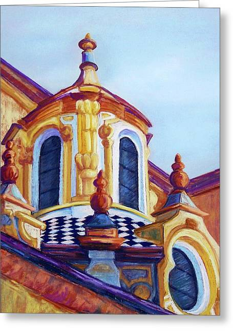 Cupola Pastels Greeting Cards - Sevilla Cupola Greeting Card by Candy Mayer
