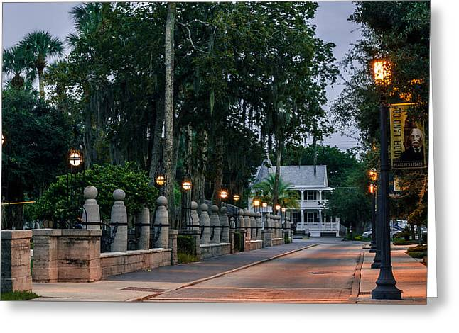 Sevilla Street In Saint Augustine Florida Greeting Card by Rob Sellers