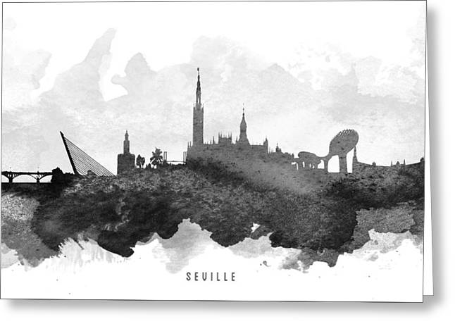 Seville Cityscape 11 Greeting Card