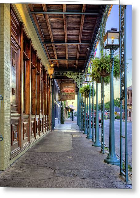 Seville Quarter Greeting Card by JC Findley