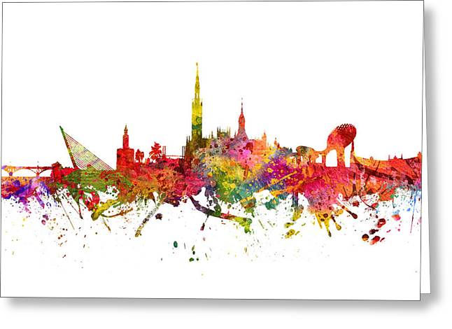 Seville Spain Cityscape 08 Greeting Card by Aged Pixel