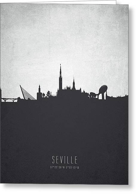 Seville Spain Cityscape 19 Greeting Card