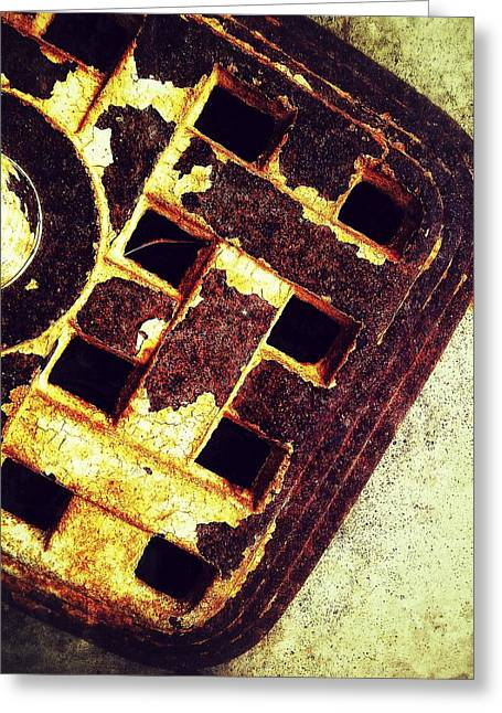 Sewer Drain Greeting Card by Olivier Calas