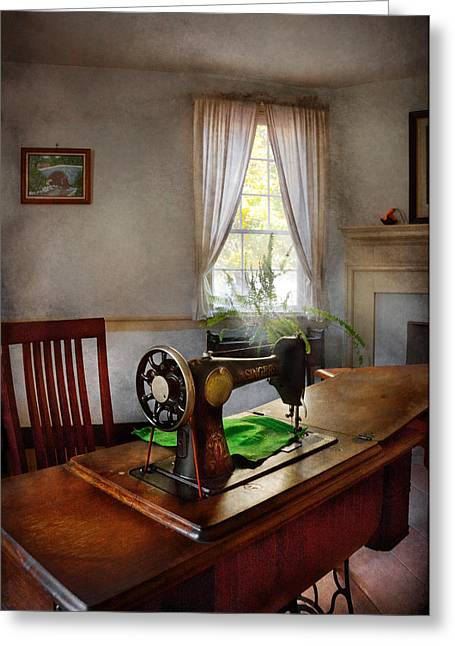 Sewing - My Sewing Room  Greeting Card by Mike Savad