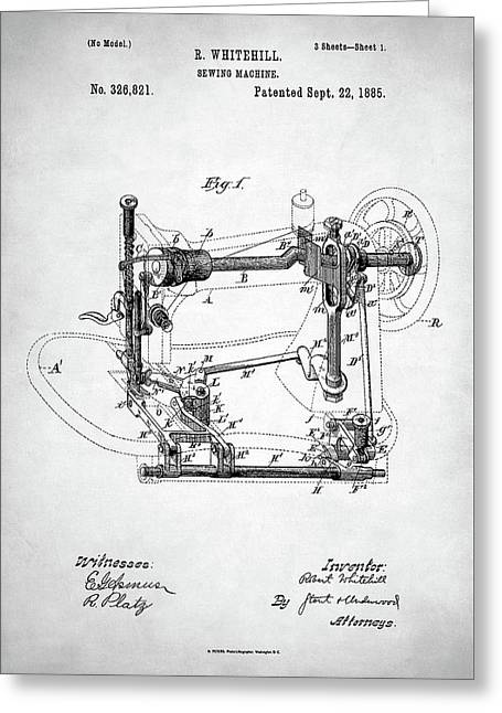 Sewing Machine Patent Greeting Card
