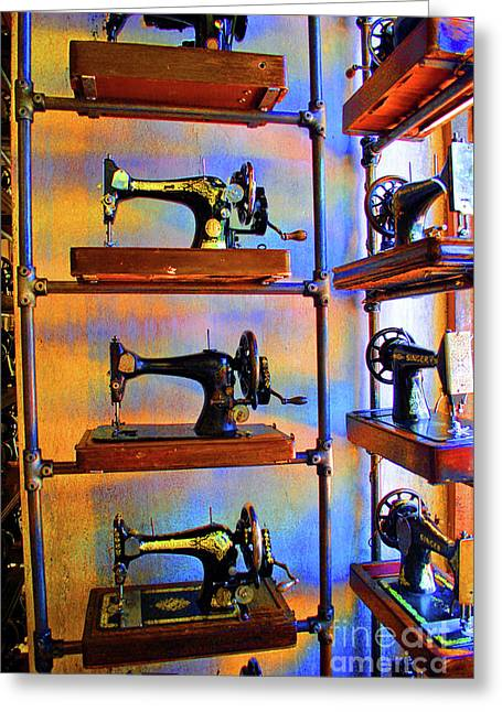 Sewing Machine Retirement Greeting Card by Jost Houk