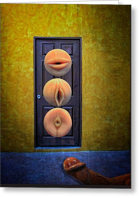 Greeting Card featuring the photograph Sex Toys by Harry Spitz