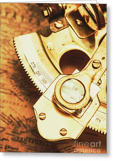 Sextant Sailing Navigation Tool Greeting Card