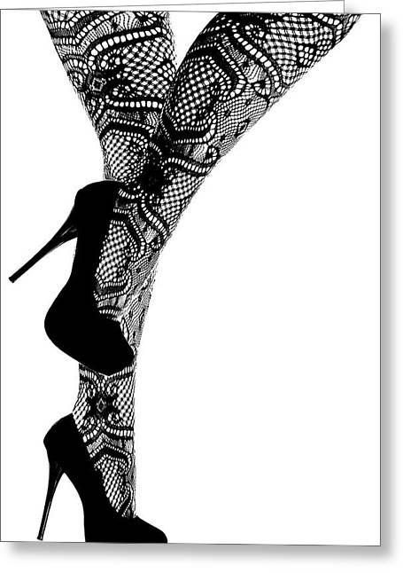 Sexy Legs In Stilettos Greeting Card by Marius Sipa