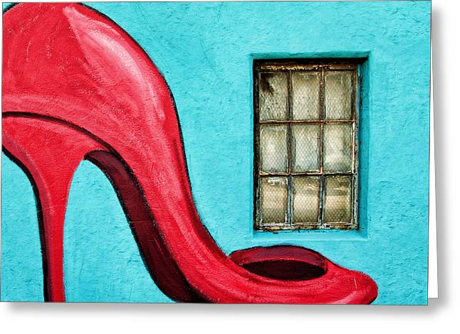 Sexy Red Pumps Greeting Card by Steven Michael