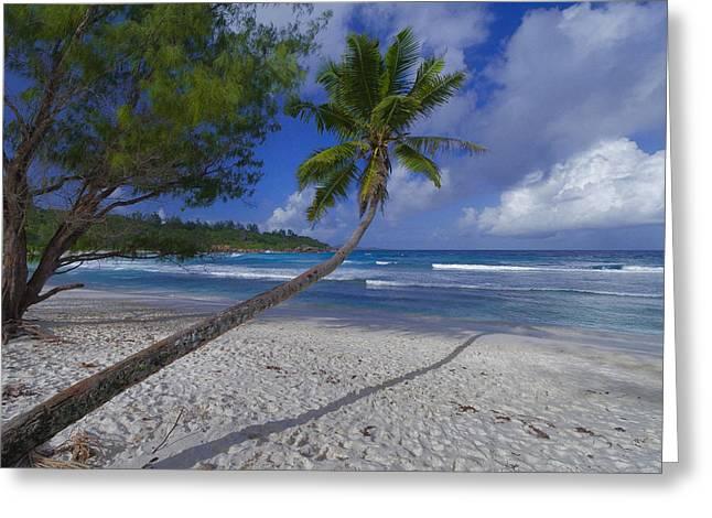 Seychelles Beach Greeting Card