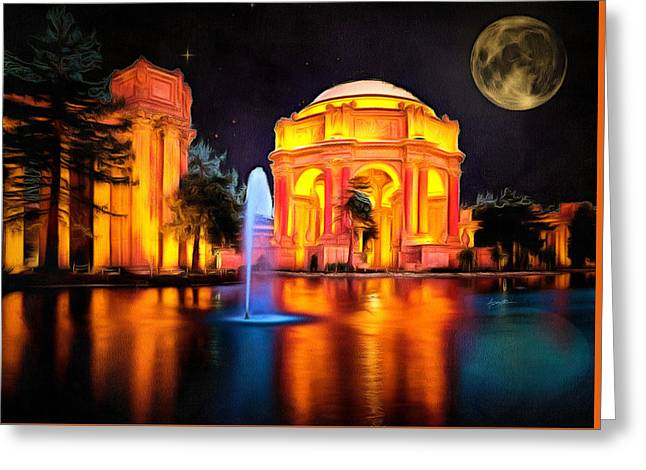Sf Landmark Greeting Card by Anthony Caruso