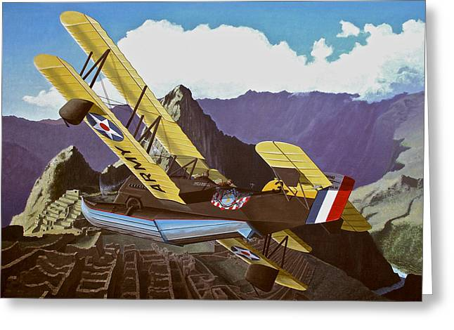 Sf Loening Over Peru Greeting Card by Wes Harrison