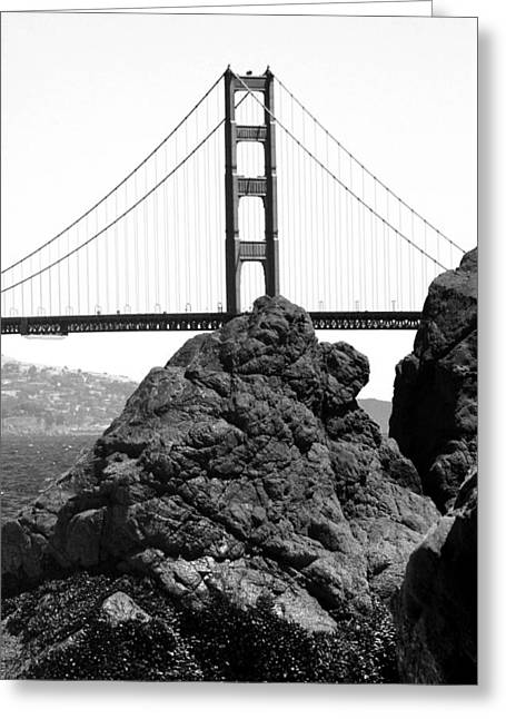 S.f. Rock Greeting Card by Tom Melo