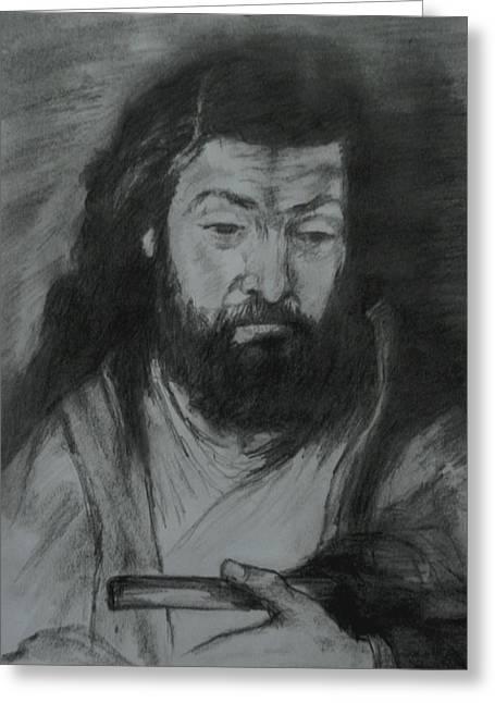 Sfantul Simon Greeting Card by Covaliov Victor