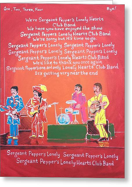 Sgt. Pepper's Lonely Hearts Club Band Reprise Greeting Card by Jonathan Morrill