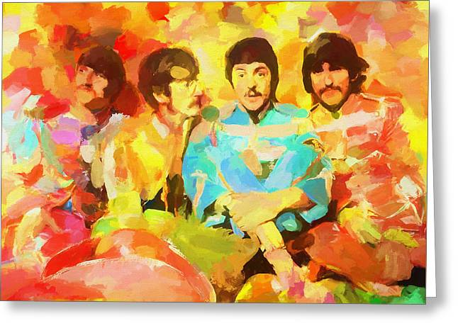 Sgt. Peppers Lonely Hearts Greeting Card by Dan Sproul