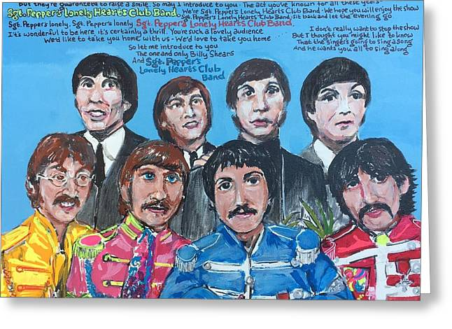 Sgt.pepper's Lonely Hearts Club Band Greeting Card by Jonathan Morrill