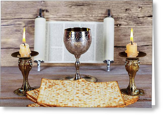 shabbat candles greeting cards