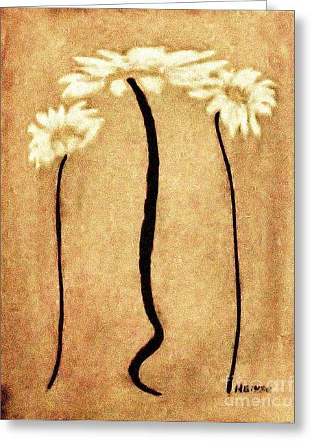 Shabbi Chic Daisies Ll Greeting Card by Marsha Heiken