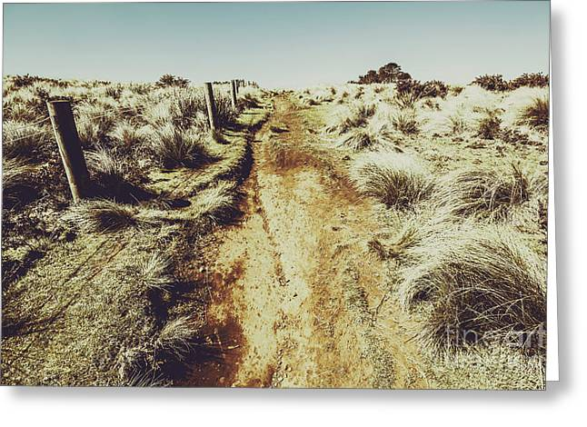 Shabby Outback Path Greeting Card