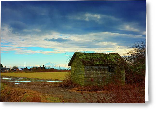 Shack And Moody Skies Greeting Card by Paul Kloschinsky