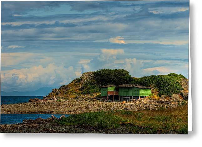 Shack Island Greeting Card by R J Ruppenthal