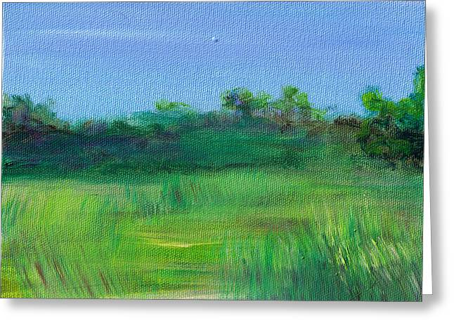 Shaded Meadow Greeting Card by Regina Valluzzi