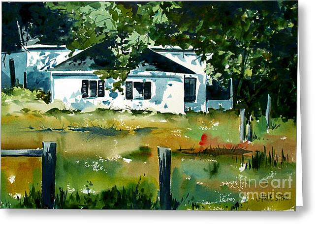 Greeting Card featuring the painting Shaded Porch by Charlie Spear