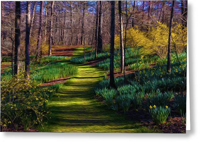 Shaded Spring Stroll Greeting Card