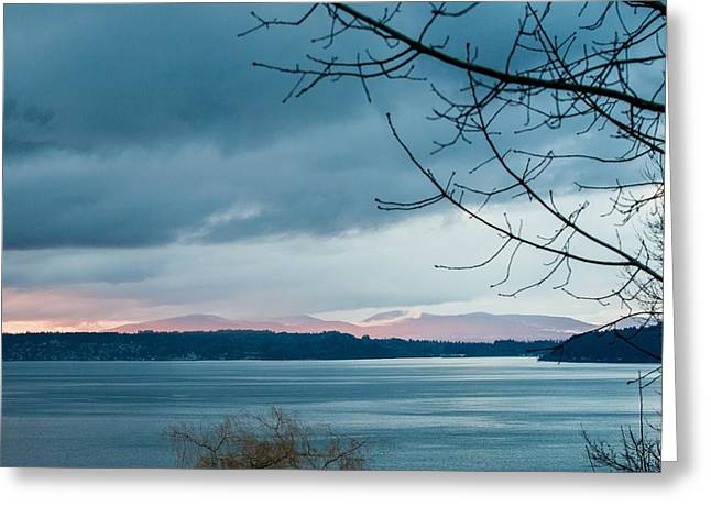 Shades Of Blue As Night Falls Greeting Card by E Faithe Lester