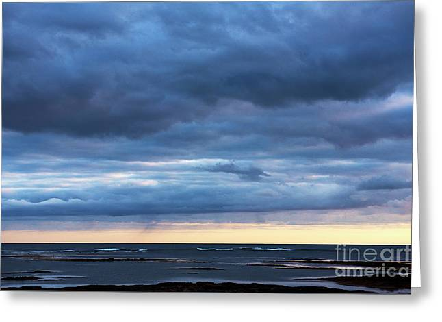 Greeting Card featuring the photograph Shades Of Blue.. by Nina Stavlund