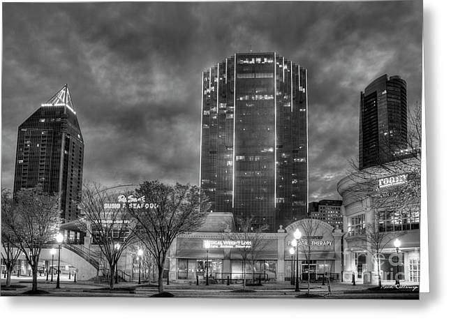 Shades Of Business Buckhead Financial District Atlanta Art Greeting Card by Reid Callaway